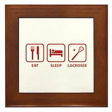Eat Sleep Lacrosse Framed Tile