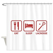 Eat Sleep Lacrosse Shower Curtain