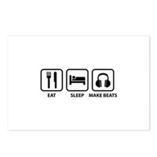 Eat Sleep Make Beats Postcards (Package of 8)