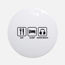 Eat Sleep Make Beats Ornament (Round)