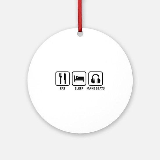 Eat Sleep Make Beats Ornament (Round)