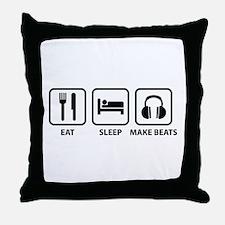Eat Sleep Make Beats Throw Pillow