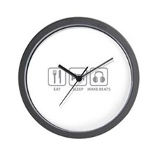 Eat Sleep Make Beats Wall Clock