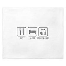Eat Sleep Make Beats King Duvet