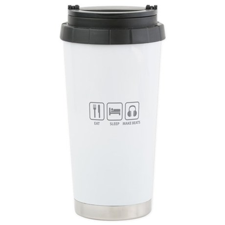 Eat Sleep Make Beats Stainless Steel Travel Mug