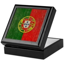 Vintage Portugal Flag Keepsake Box