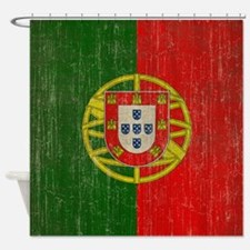 Vintage Portugal Flag Shower Curtain