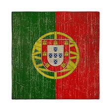 Vintage Portugal Flag Queen Duvet