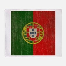 Vintage Portugal Flag Throw Blanket