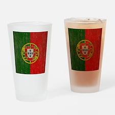 Vintage Portugal Flag Drinking Glass