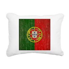 Vintage Portugal Flag Rectangular Canvas Pillow