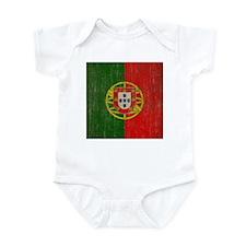 Vintage Portugal Flag Infant Bodysuit