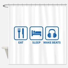 Eat Sleep Make Beats Shower Curtain