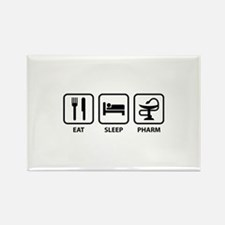 Eat Sleep Pharm Rectangle Magnet