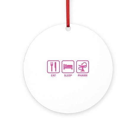 Eat Sleep Pharm Ornament (Round)