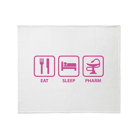 Eat Sleep Pharm Throw Blanket