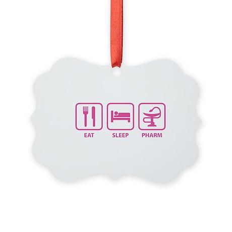 Eat Sleep Pharm Picture Ornament