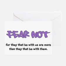 Fear Not - purple Greeting Cards (Pk of 10)