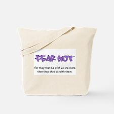 Fear Not - purple Tote Bag