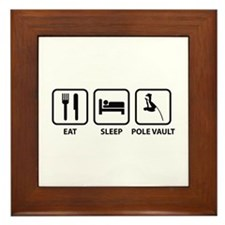 Eat Sleep Pole Vault Framed Tile