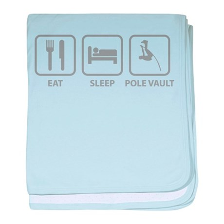 Eat Sleep Pole Vault baby blanket