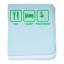 Eat Sleep Pole Vault baby blanket