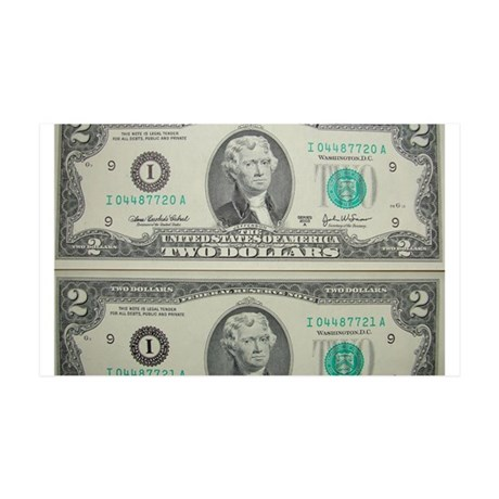 FOUR DOLLARS™ 35x21 Wall Decal
