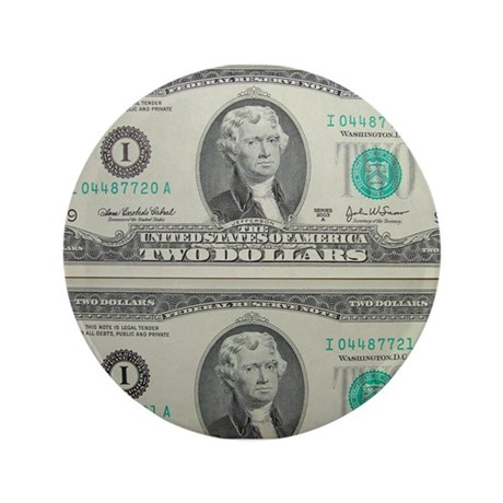 "FOUR DOLLARS™ 3.5"" Button (100 pack)"