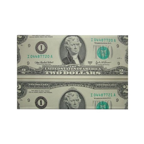 FOUR DOLLARS™ Rectangle Magnet (100 pack)