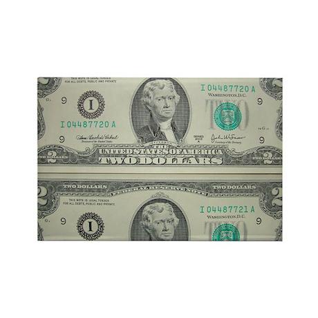 FOUR DOLLARS™ Rectangle Magnet