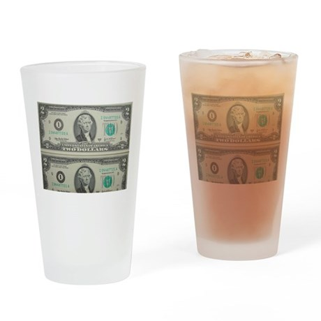 FOUR DOLLARS™ Drinking Glass