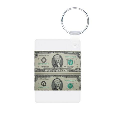 FOUR DOLLARS™ Aluminum Photo Keychain