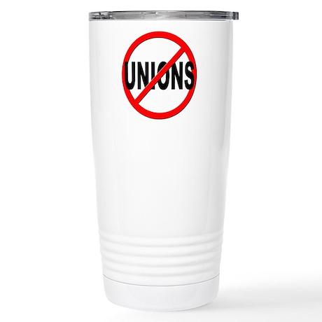 Anti / No Unions Stainless Steel Travel Mug