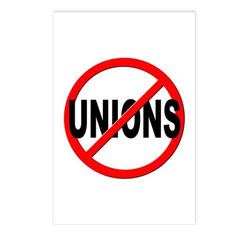 Anti / No Unions Postcards (Package of 8)