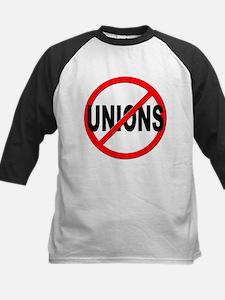 Anti / No Unions Kids Baseball Jersey