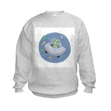 Little Green Alien Sweatshirt