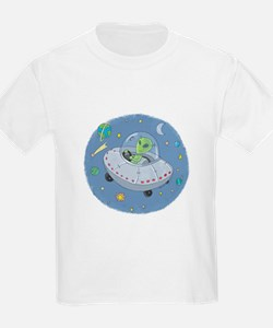 Little Green Alien Kids T-Shirt