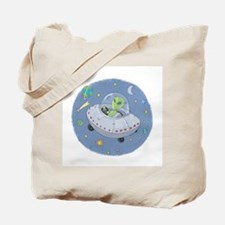 Little Green Alien Tote Bag