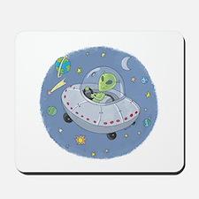 Little Green Alien Mousepad