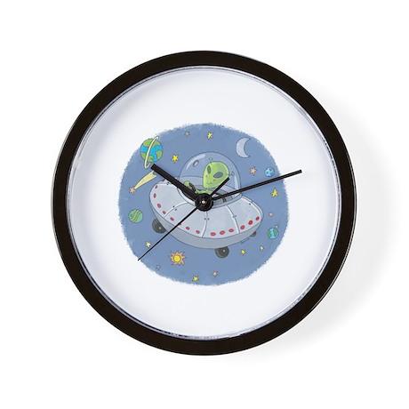 Little Green Alien Wall Clock