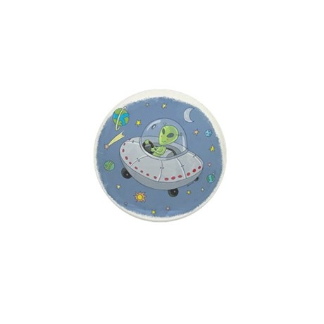 Little Green Alien Mini Button