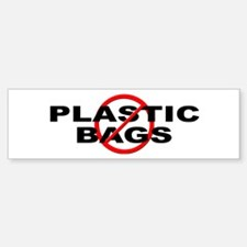 Anti / No Plastic Bags Bumper Bumper Sticker