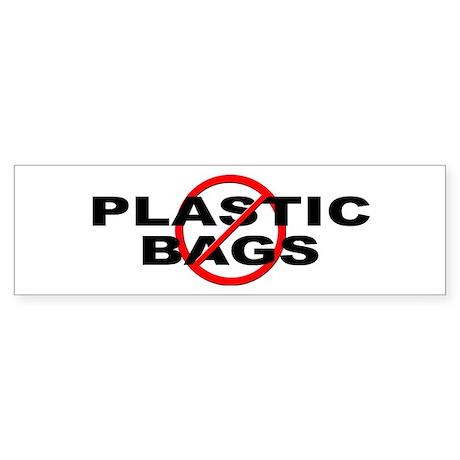 Anti / No Plastic Bags Sticker (Bumper)