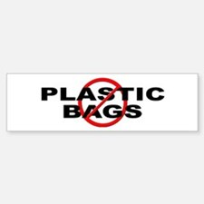 Anti / No Plastic Bags Sticker (Bumper)