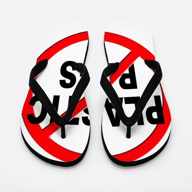 Anti / No Plastic Bags Flip Flops