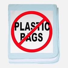 Anti / No Plastic Bags baby blanket