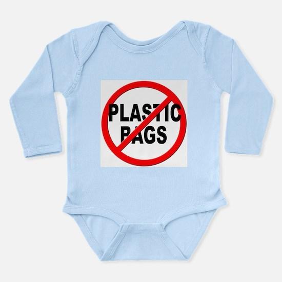 Anti / No Plastic Bags Long Sleeve Infant Bodysuit
