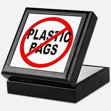 Anti / No Plastic Bags Keepsake Box