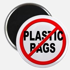 "Anti / No Plastic Bags 2.25"" Magnet (10 pack)"