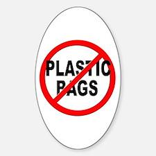 Anti / No Plastic Bags Decal